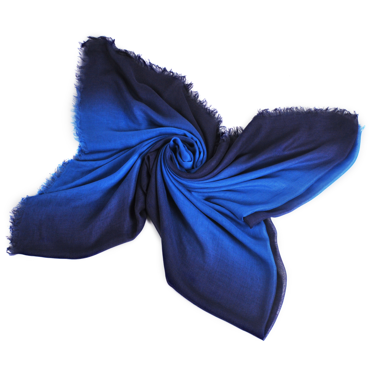 [ACCESSORIES / SCARF ] TWOTONE (BLUE / MADE IN ITALY)