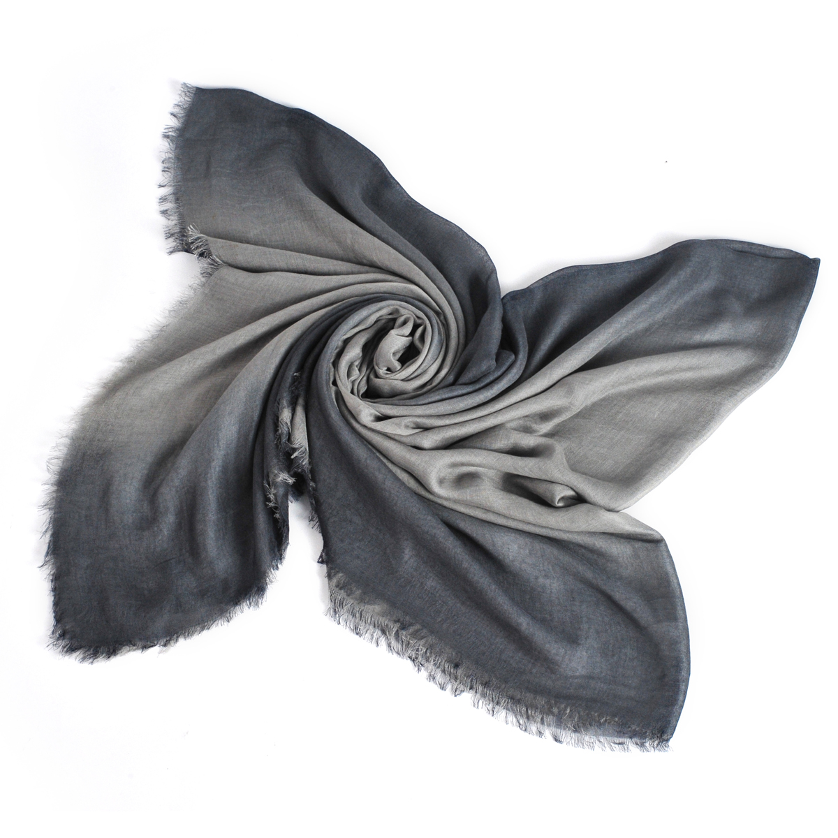 [ACCESSORIES / SCARF ] TWOTONE (GREY / MADE IN ITALY)