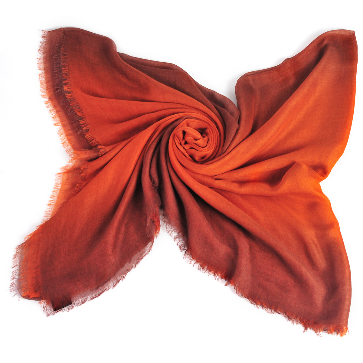 [ACCESSORIES / SCARF ] TWOTONE (ORANGE / MADE IN ITALY)