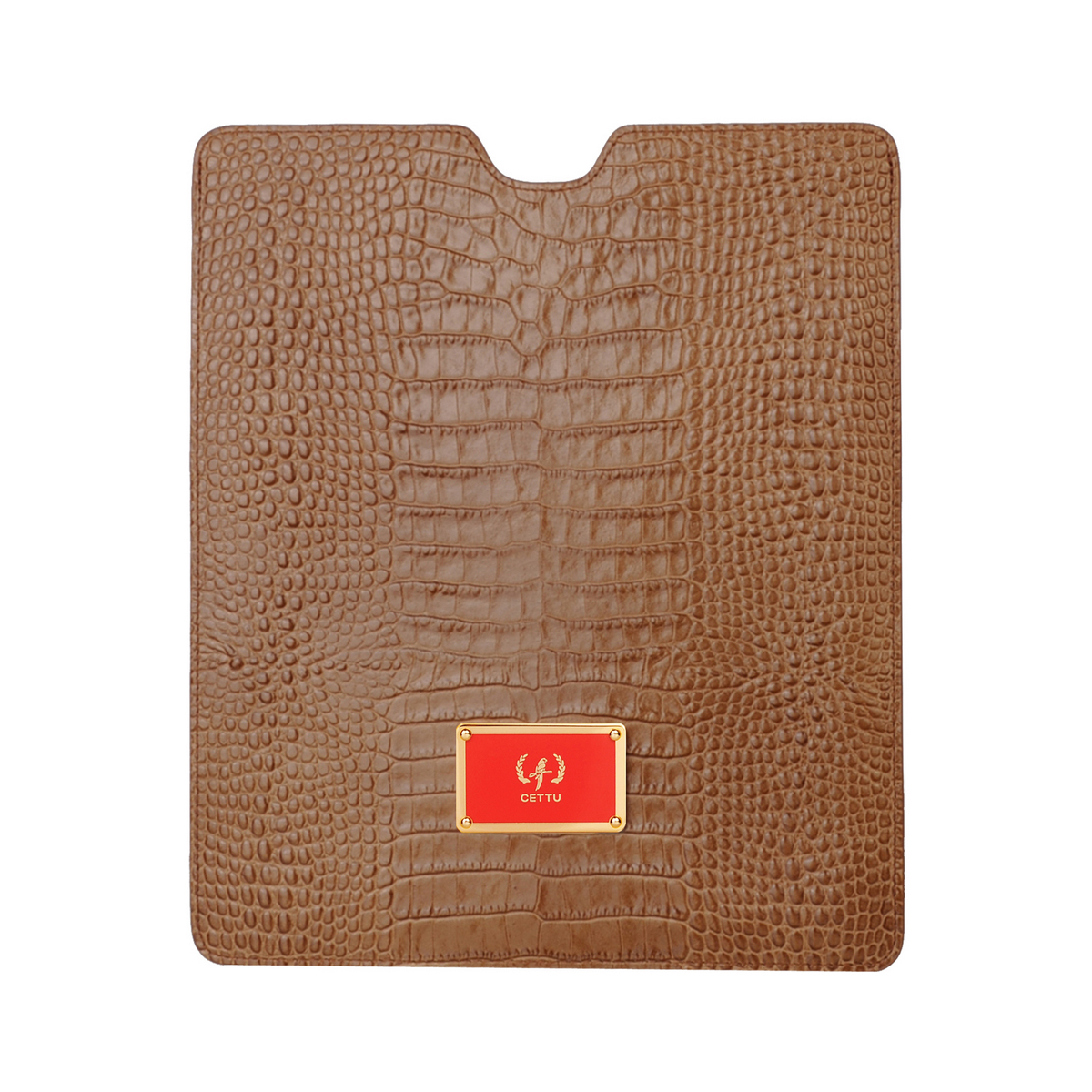 [ACCESSORIES / TECH ] I-PAD CASE 2  (CROCO / CAMEL)