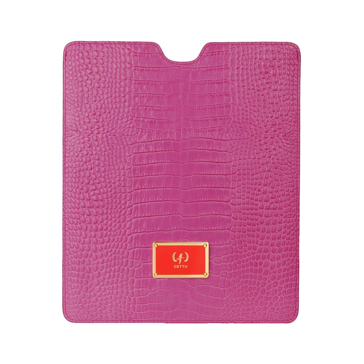 [ACCESSORIES / TECH ] I-PAD CASE 2  (CROCO / FUCHSIA)