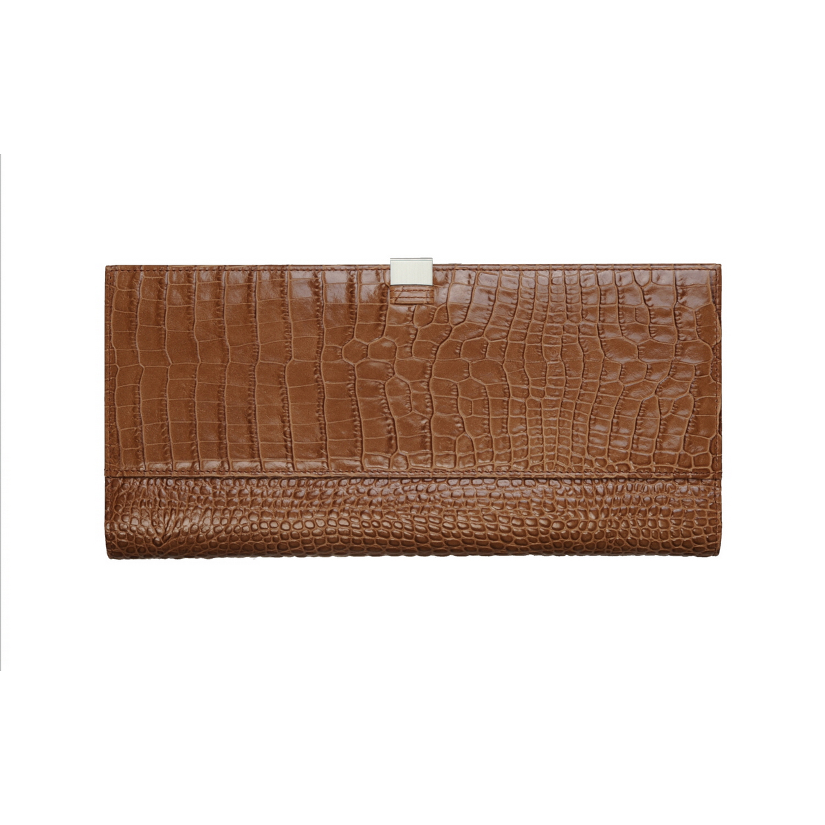 [ACCESSORIES /  WALLET ] TRAVEL WALLET  (CROCO / CAMEL)