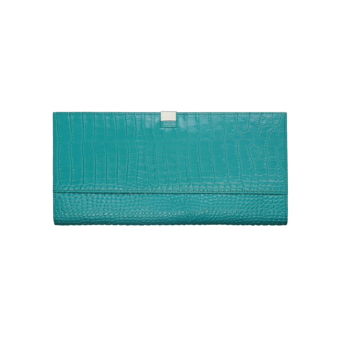 [ACCESSORIES /  WALLET ] TRAVEL WALLET  (CROCO / GREEN)