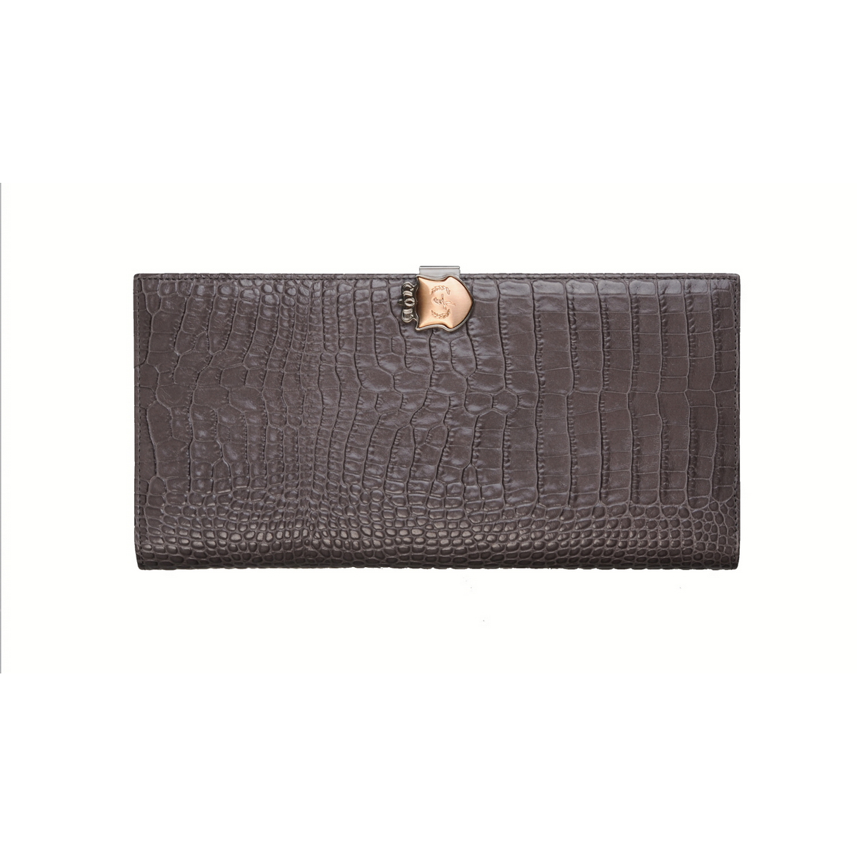 [ACCESSORIES /  WALLET ] TRAVEL WALLET  (CROCO / GREY)