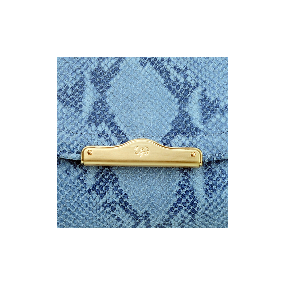 [CLUTCH] CHLOE (NATURAL SNAKE / BLUE)