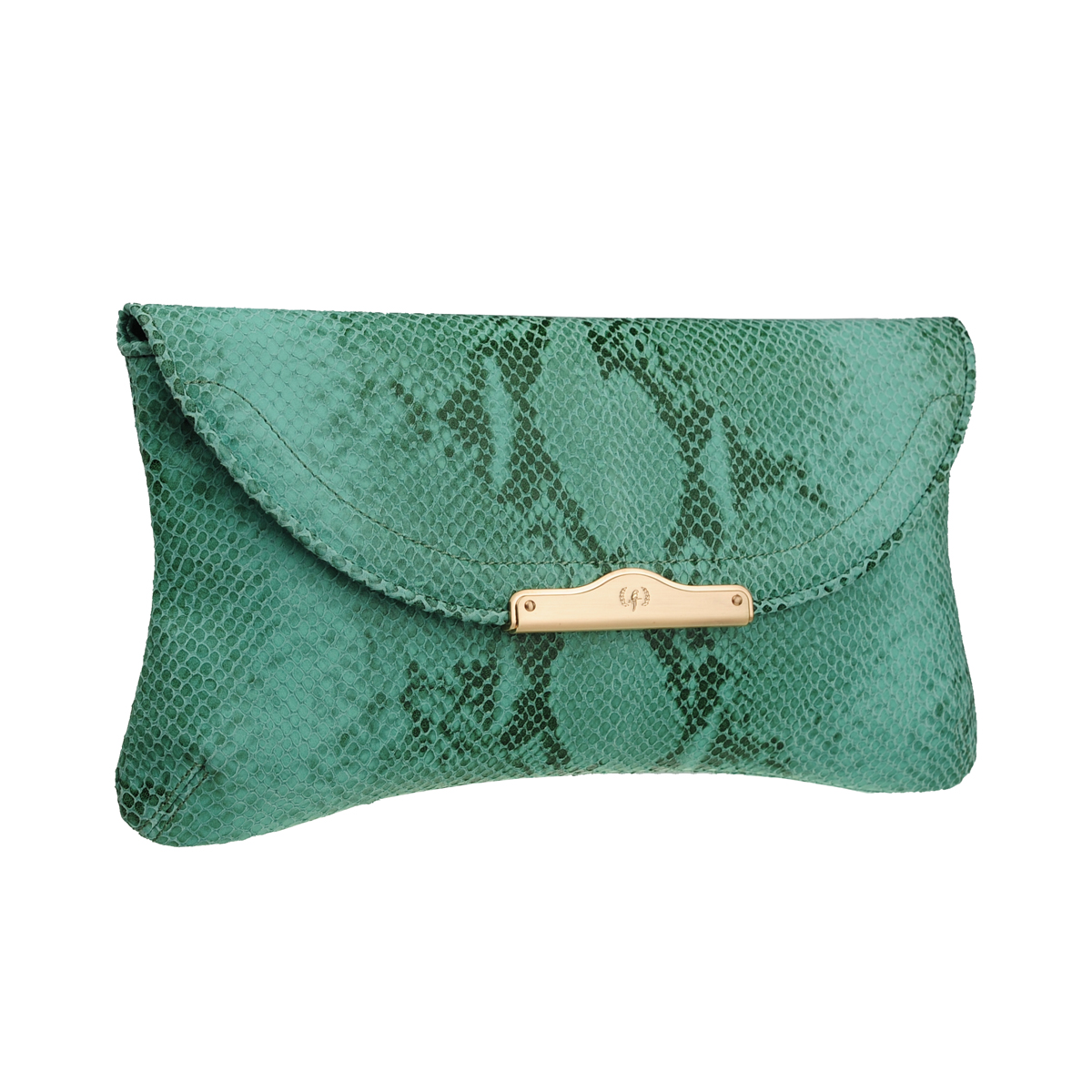 [CLUTCH] CHLOE (NATURAL SNAKE / GREEN)