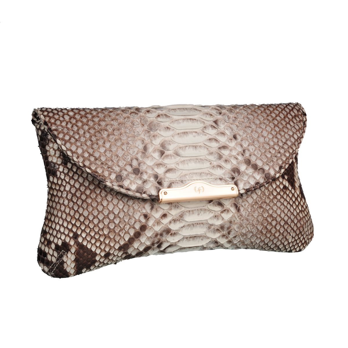 [CLUTCH] CHLOE (REAL PYTHON / TWO TONE NATURAL)