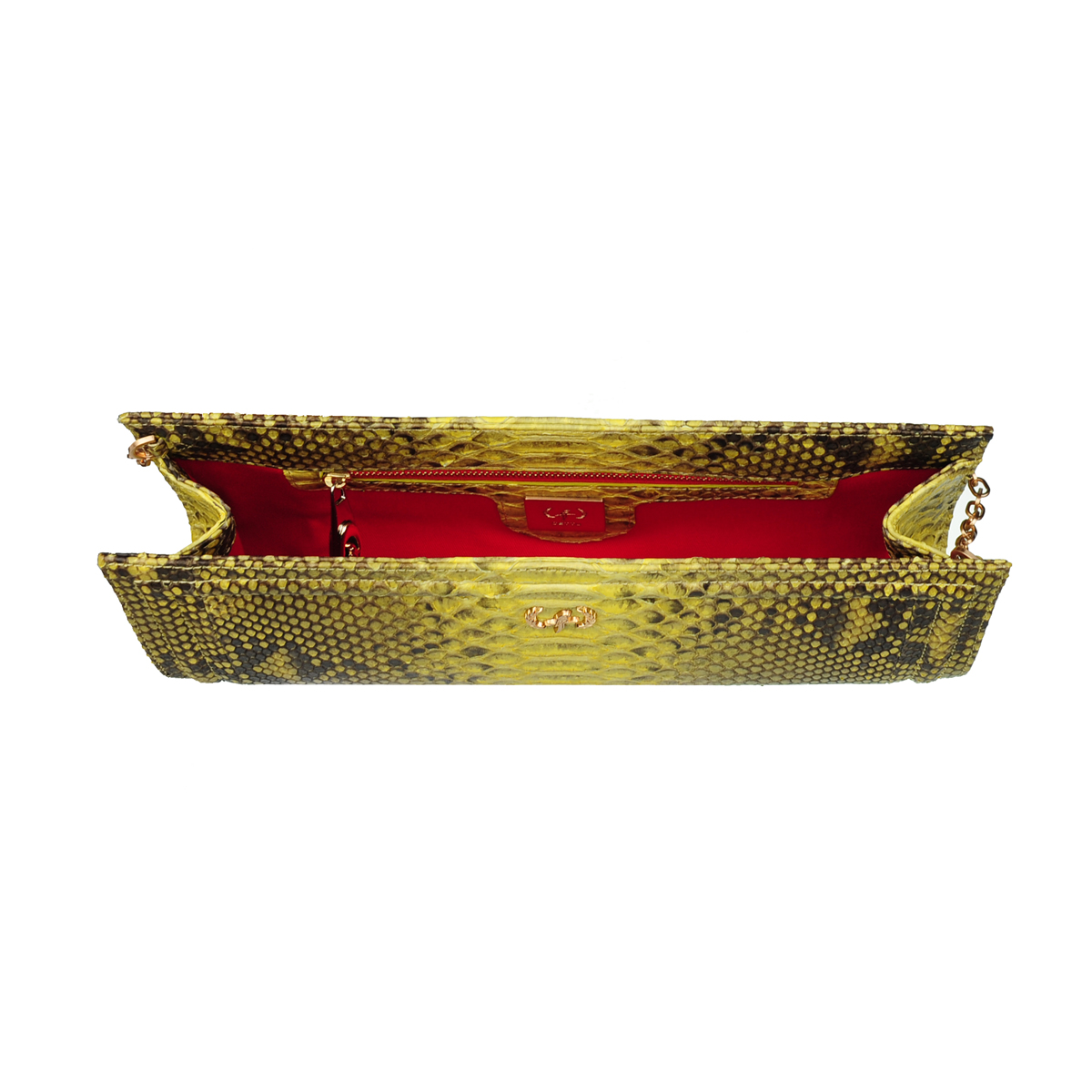 [CLUTCH] HELLEN  (REAL PYTHON / TWO TONE YELLOW)