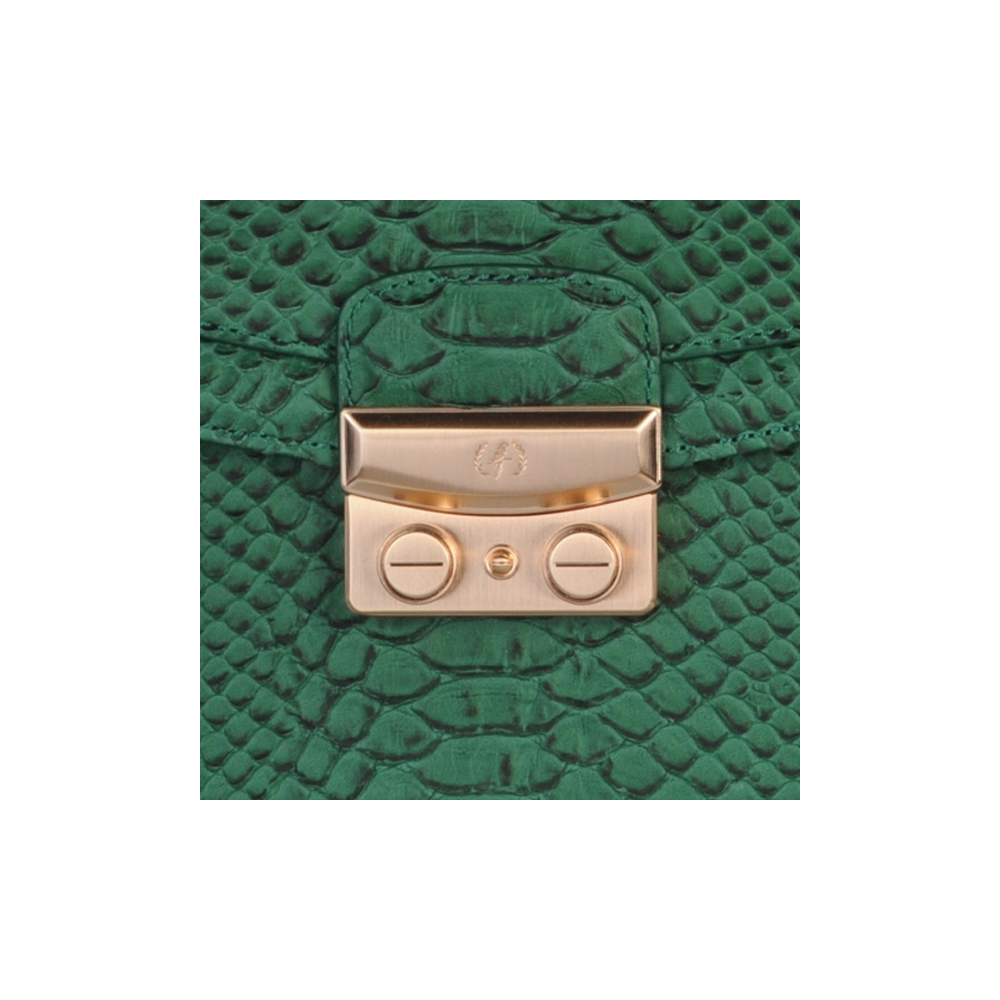 [SHOULDER_BAG] BLAIR (WILD SNAKE / GREEN)