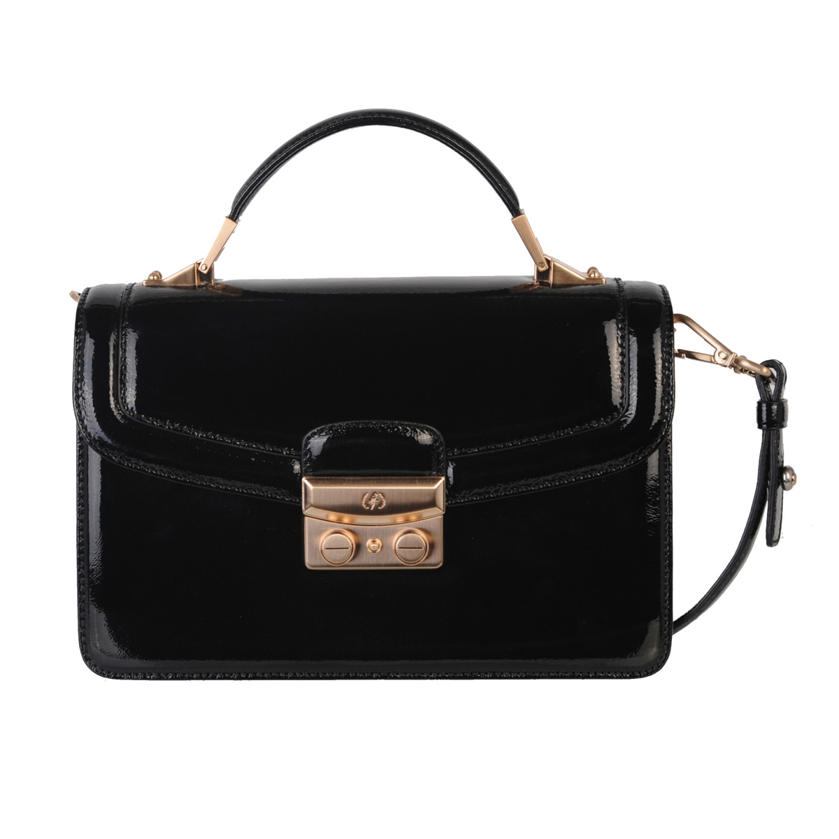 (SHOULDER BAG) BLAIR (PATENT / BLACK)