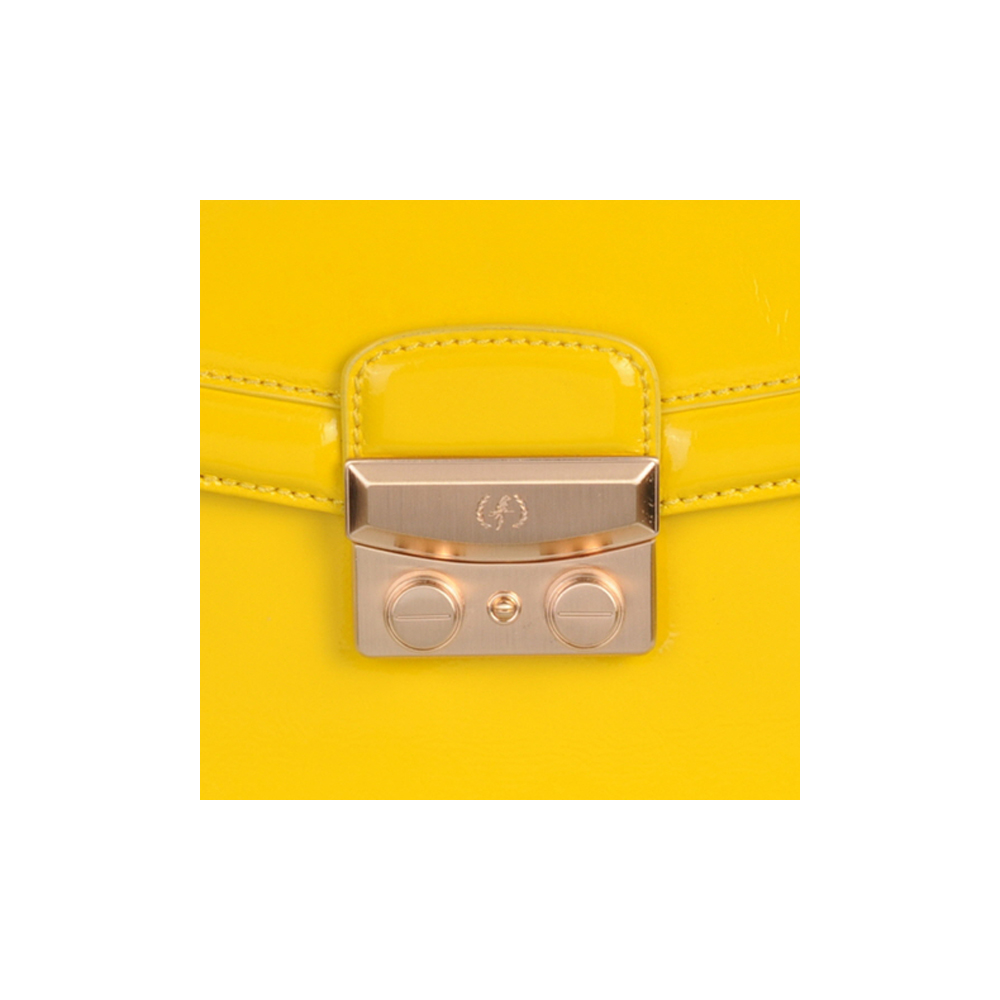 (SHOULDER BAG) BLAIR (PATENT / MUSTARD)