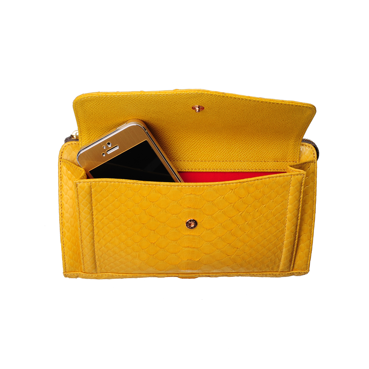 [SHOULDER_BAG] LUSY (REAL PYTHON / YELLOW)