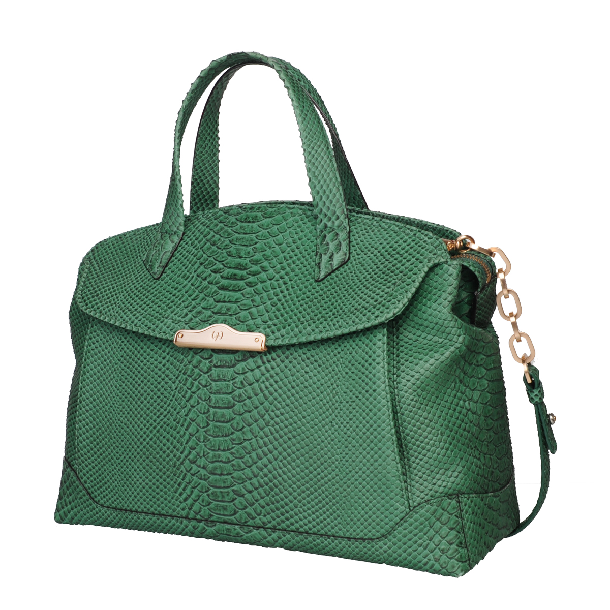 [TOTE] MONICA (WILD SNAKE / GREEN)
