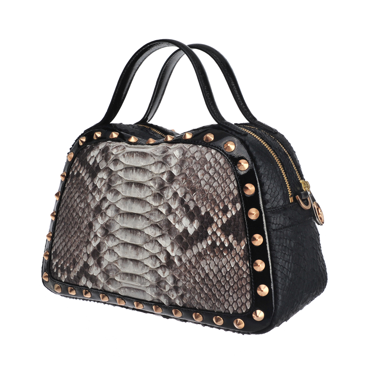 [satchel] CAROLE MINI (REAL PYTHON & WILD SNAKE & PATENT / NATURAL & BLACK & BLACK)