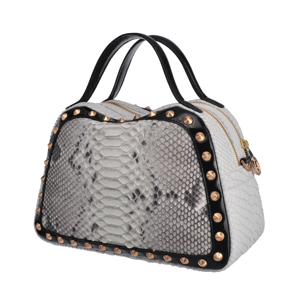 [satchel] CAROLE MINI (REAL PYTHON & WILD SNAKE & PATENT / NATURAL & WHITE & BLACK)
