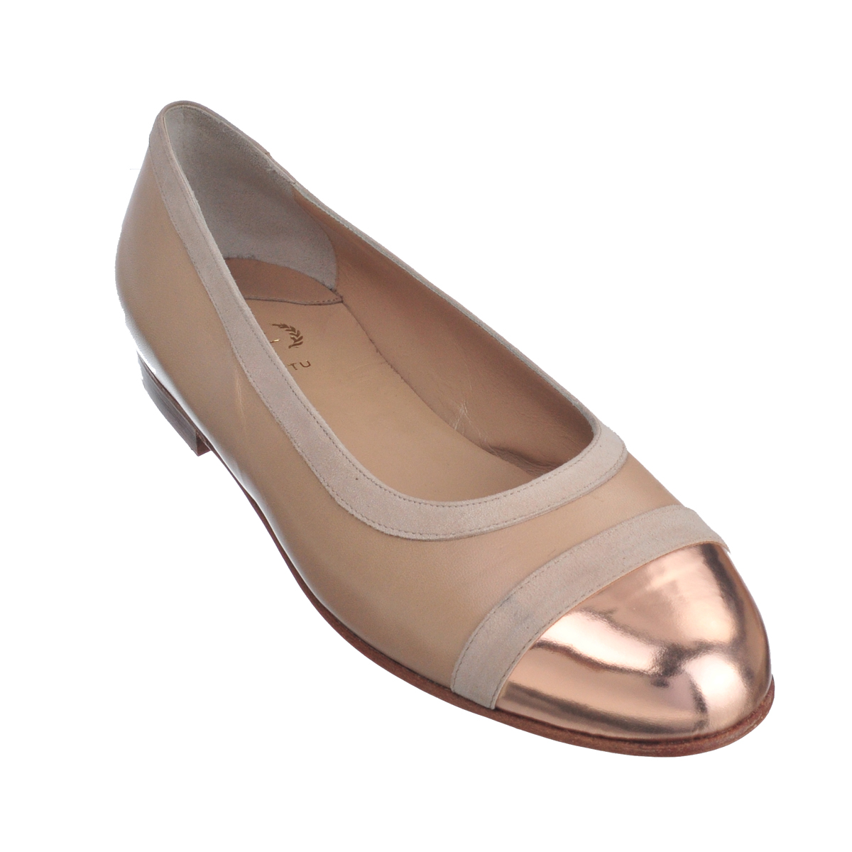 [SHOES / FLAT] DANA  (MIRROR LEATHER / GOLD) (MADE IN ITALY)