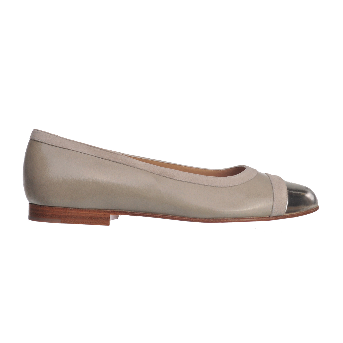 [SHOES / FLAT] DANA  (MIRROR LEATHER / SILVER) (MADE IN ITALY)