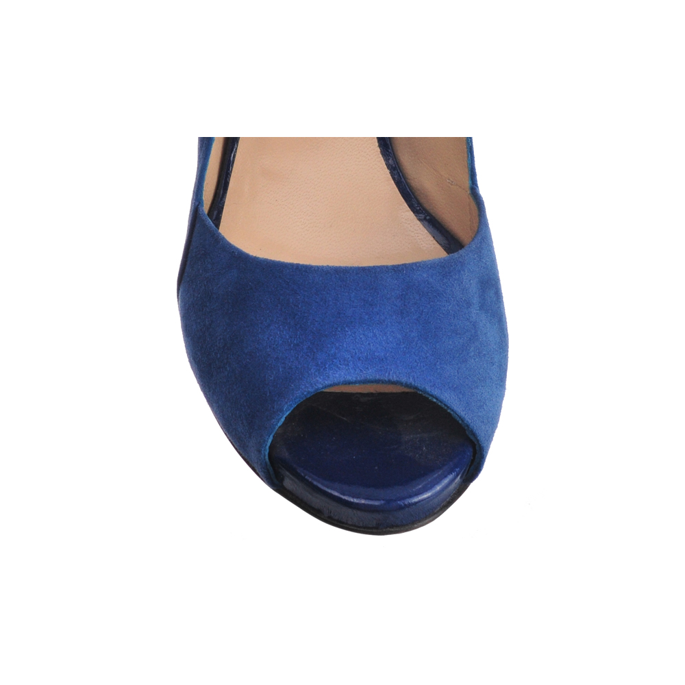 [SHOES / PUMP & HEEL] VICTORIA  (SUEDE / BLUE) (MADE IN ITALY)