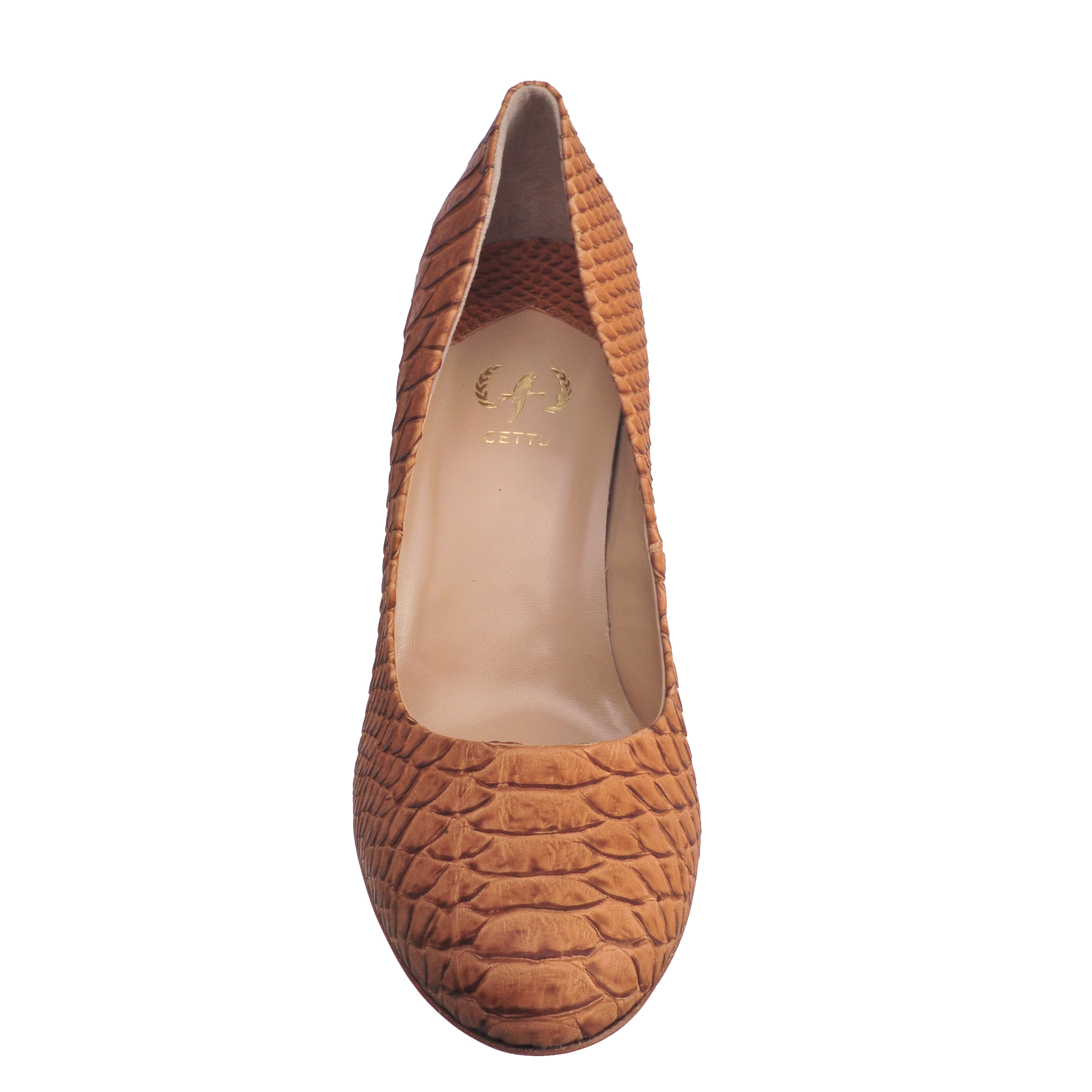 [SHOES / PUMP & HEEL] YESICA  (WILD SNAKE / CAMEL) (MADE IN ITALY)